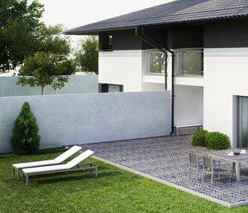 Wizualizacja architektonicznego domu blźniak 3D