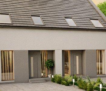 profesjonalna wizualizacja architektoniczna domu typu bliźniak