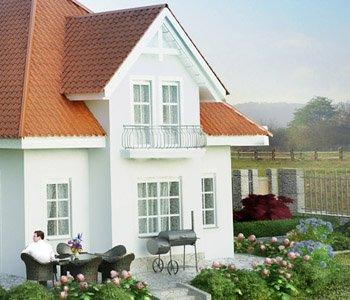 Wizualizacja 3D domu typu bliźniak