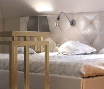 Wizualizacja wnętrza 3D sypialni