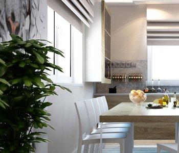 Wizualizacja wnętrza kuchni 3d - 3dworld.pl