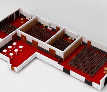 Wizualizacja sali konferencyjnej - 3dworld.pl